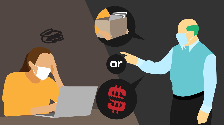 因為疫情,公司讓我在「資遣」或者「降低工時與減薪」兩者間做出選擇,這樣合法嗎?